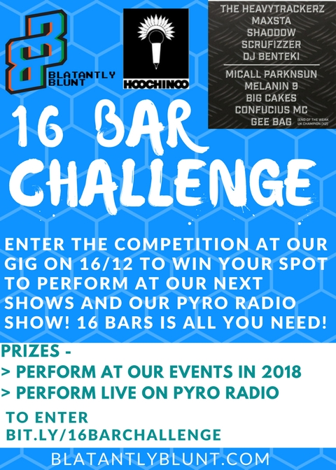 spit your best 16 bars in dalston on dec 16 to perform at our next